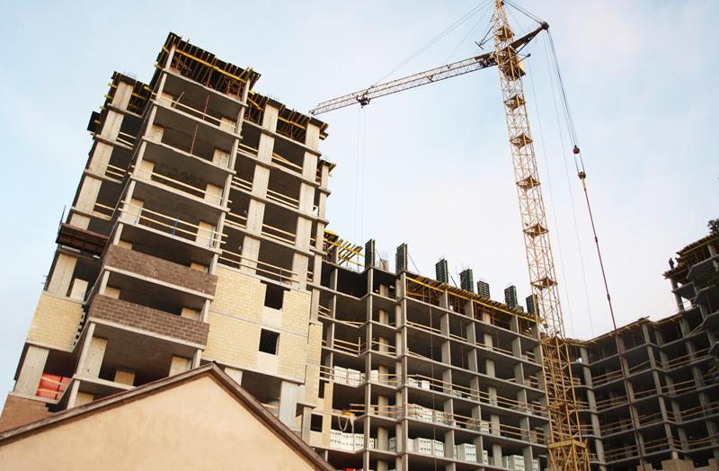 Стройка многоквартирного дома